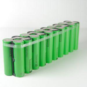 Batteria 36v li-ion litio 18650 7Ah ebike 252 W/h per professionisti 20*3.5*6.5 cm